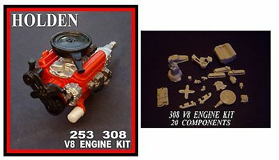 Resin  Holden 308  253  V8  Engine Kit  1/24 1/25 Scale