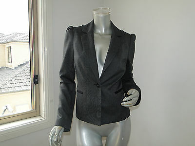 Elegant Grey Review Corporate Blazer Jacket Size 10 Near New Try On  Rrp $219.00
