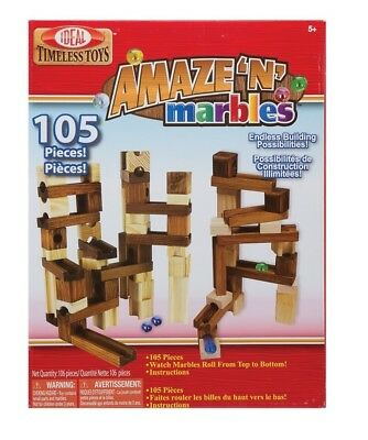 POOF-Slinky - Ideal Amaze 'N' Marbles Classic Wood Construction Set,