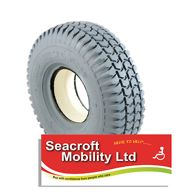 *NEW* SOLID 3.00-4  (260x85)  Mobility Scooter Tyre Grey Block  Disability