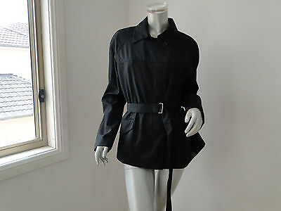 Elegant Black Simone Turpin Corporate Trench Jacket Size 10 Near New $149.00
