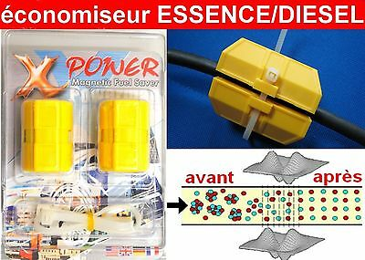 X POWER 2 Super Économiseurs de Carburant Essence Diesel Néodyme N48 Economiseur