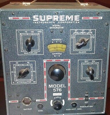 Vintage/Antique Supreme Instruments Model 576 Signal Generator WORKING!!!