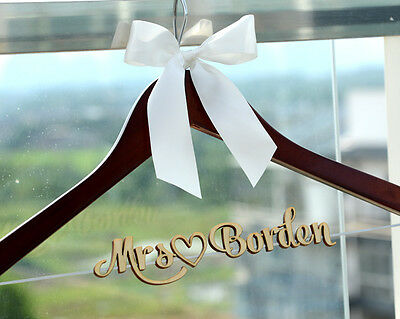 Personalized Wedding Hanger Bride Bridesmaid Name Wedding Dress Hanger LL019