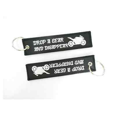 Drop a Gear and Disappear Motorcycle Key Tag - 1 pair