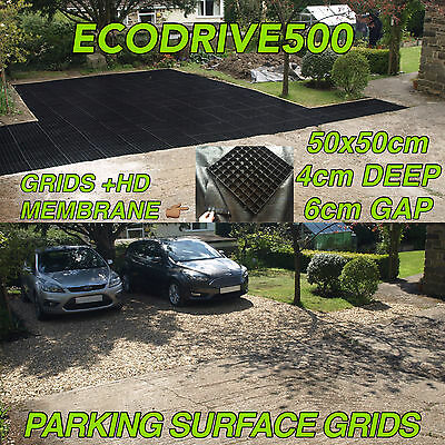 GRID DRIVE ECO PARKING PLASTIC GRIDS + MEMBRANE ECO BASE GRAVEL DRIVEWAY MATS sm