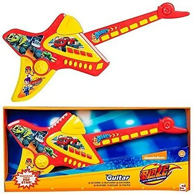 Blaze And The Monster Machines Deluxe Childrens Kids Electronic Guitar Musical I