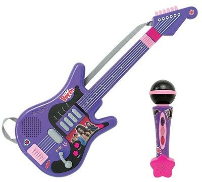 Smoby Toys - 520103 - Chica Vampiro Electronic Guitar with Microphone. Huge Savi