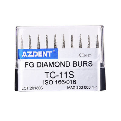 NEW 10pcs/1box Dental Super Coarse Diamond Burs TC-11S for High Speed Handpiece
