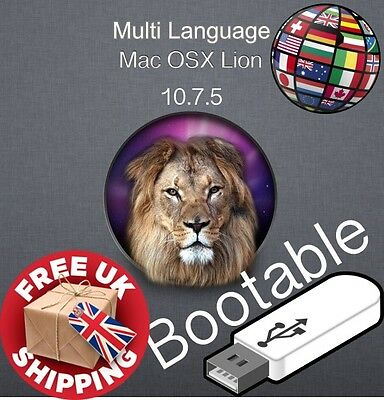 Mac Os X Lion 10.7.5 - Bootable 16 GB USB Recovery-Upgrade-Fresh Installation