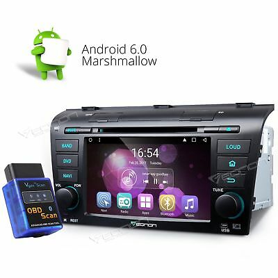 """OBD2 Android 6.0 7""""Car DVD Stereo GPS Player For Mazda 3 radio MP3 USB WiFi 3G B"""