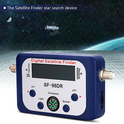 SF-95DR Digital Satellite Signal Meter Finder Directv Dish with Compass FAT  OB