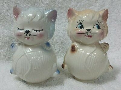 Vintage Cats Kittens Salt and Pepper Shakers