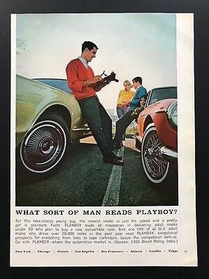 1967 Vintage Ad | 1960s What Sort Of Man Reads Playboy? Owns Fixes Sports Car