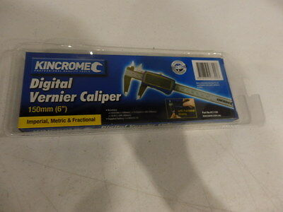 NEW KINCROME - Digital Vernier Caliper 150mm 6'' LCD with Large Screen,stainless