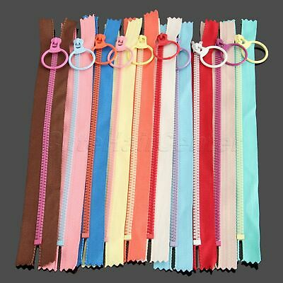 10X Hanging Ring Puller Closed End Nylon Zipper Zip For Bag Pouch Sewing DIY