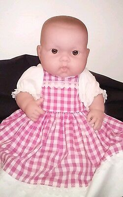 "14"" BERENGUER 36cm Beautiful Baby Doll Vinyl Body Brown Eyes Exc Cond"