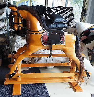 Genuine Huon Pine Rocking Horse - Handcrafted to create a Family Heirloom