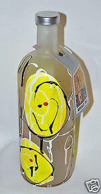 Ultra Rare Absolut Original Vodka Bottle ARNALDO DIAZ w/ NECKTAG (empty) Yellow