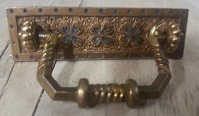 10 Vintage Drawer Pulls Handles -  Brass? Bronze?    Hardware Steampunk