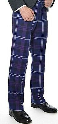 Scottish Heritage of Scotland Tartan Authentic Elasticated Waist Trousers New