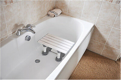 Medina Plastic Slatted Bath Shower Seat Bathing Stool Mobility Aid