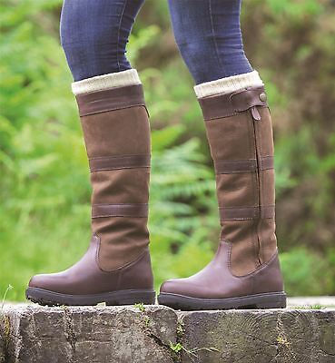 Shires Moretta Nella Waterproof Walking Equestrian Leather Long Country Boots