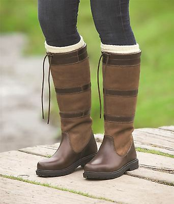 Shires Moretta Teo Ladies Equine Outdoor Waterproof Walking Long Country Boots