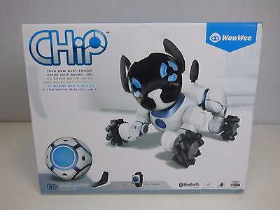 WowWee CHiP Robot Toy Dog - White                      ***MISSING WATCH STRAP***