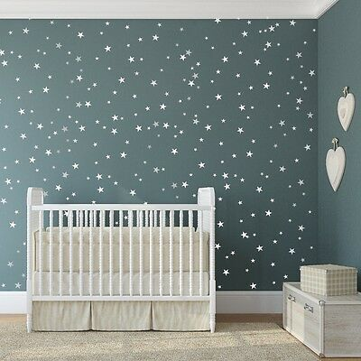 star vinyl wall decal up to 161 stars wall decal art sticker for baby nursery
