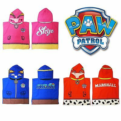Paw Patrol Hooded Poncho Towel For Boys & Girls - Choose Skye Marshall or Chase