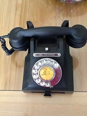 Vintage Black Bakelite Telephone Perfect Working Order And condition 164 52.