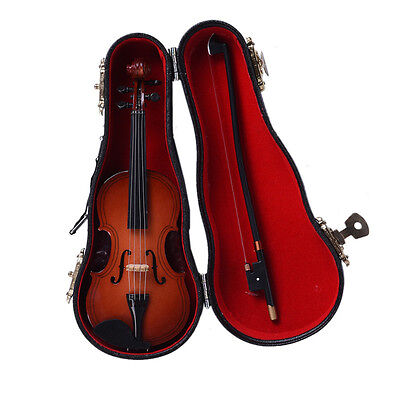 Ornaments Fift Craft Mini Miniature Violin Wooden Musical Collection Decorative