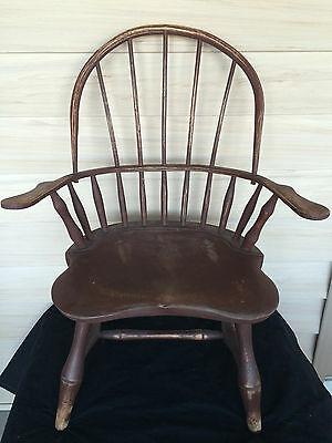 "American Windsor Child Size Custom Made Windsor Arm Chairs 26"" Tall 20th Century"