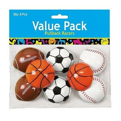 Plastic Pullback Sports Balls. Shipping is Free