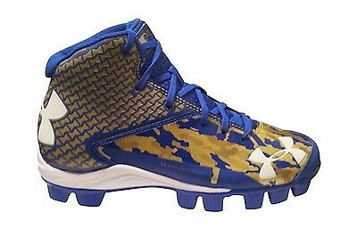 Under Armour Mens' UA Deception Mid RM Baseball Cleats, Royal / Gold, (10.5Y). S