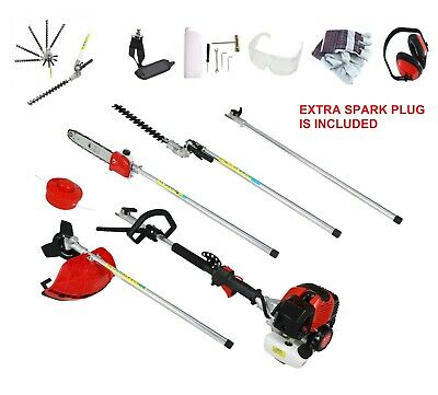 52cc 5IN1 3HP GARDEN PETROL STRIMMER,BRUSHCUTTER,HEDGE TRIMMER,CHAINSAW,WARRANTY