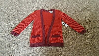 NWT girls size 5T Old Navy red and maroon striped sweater