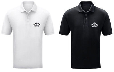 Veredus Logo Mens Cotton Pique Polo Tecnhical SS Riding Shirt Black/White S-XXL