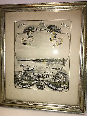 City of Portsmouth New Hampshire 1776 - 1876 ORIGINAL Colored LITHO Brotherhead