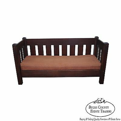 Limbert Antique Mission Oak Even Arm Settle