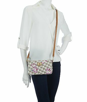 ee3c0091afa1 LAUREN RALPH LAUREN Dobson Pam Mini Floral Shoulder Bag-ORCHIDS ...