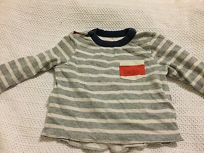 Mini Boden Reversible Baby Boy/girl Top 0-3 Months Great Condition