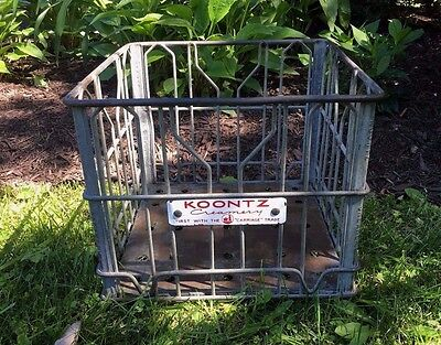 Koontz Creamery Milk Bottle Crate First with Carriage Trade Baltimore MD Dairy