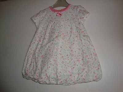 George Baby Girls White / Pink / Green Floral Dress 3-6 Mths Ex Cond