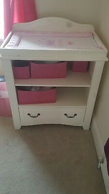 wooden white baby changing unit