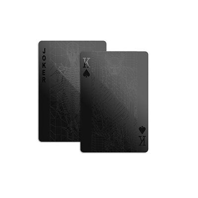 MollaSpace All Black Playing Cards 52 Deck Cool Unique Design Poker Games Gifts