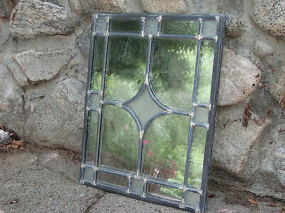 "Set of 4 Vintage Leaded-Glass Windows 16-1/4"" x 20-1/2"" x 1/4"" Unframed"