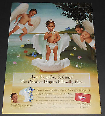 2000 vintage ad page - HUGGIES SUPREME DIAPERS 1-PAGE PRINT ADVERT BEDWETTING