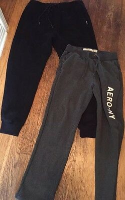 Lot Of Two Hollister Aeropostale Men's Small Extra Small Joggers Sweatpants S XS